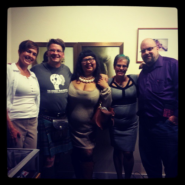 At the Center for Sex and Culture. From left: Jen Cross, David Fitzgerald, Virgie Tovar, Greta Christina, Chris Hall