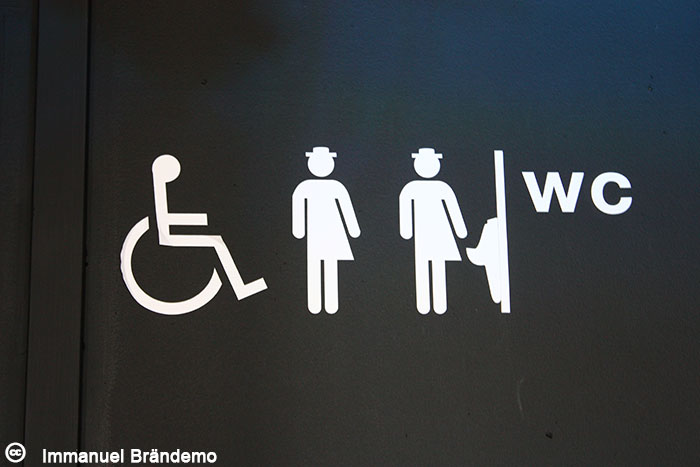 A gender-neutral WC sign from Stockholm.  Flickr  / Creative Commons