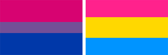 Bisexual and Pansexual Pride Flags