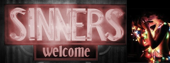 Godless Perverts Sinners Welcome banner