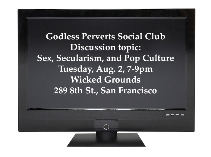 Image of TV screen with text of event details