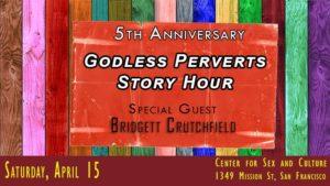 Godless Perverts Story Hour banner April 15