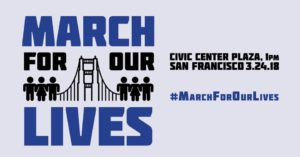 March for Our Lives logo with event info