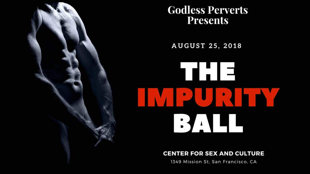 The Impurity Ball - Black background with nude masculine torso.